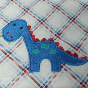 Set of 4 Flannel Receiving Blankets Dinosaur Paws